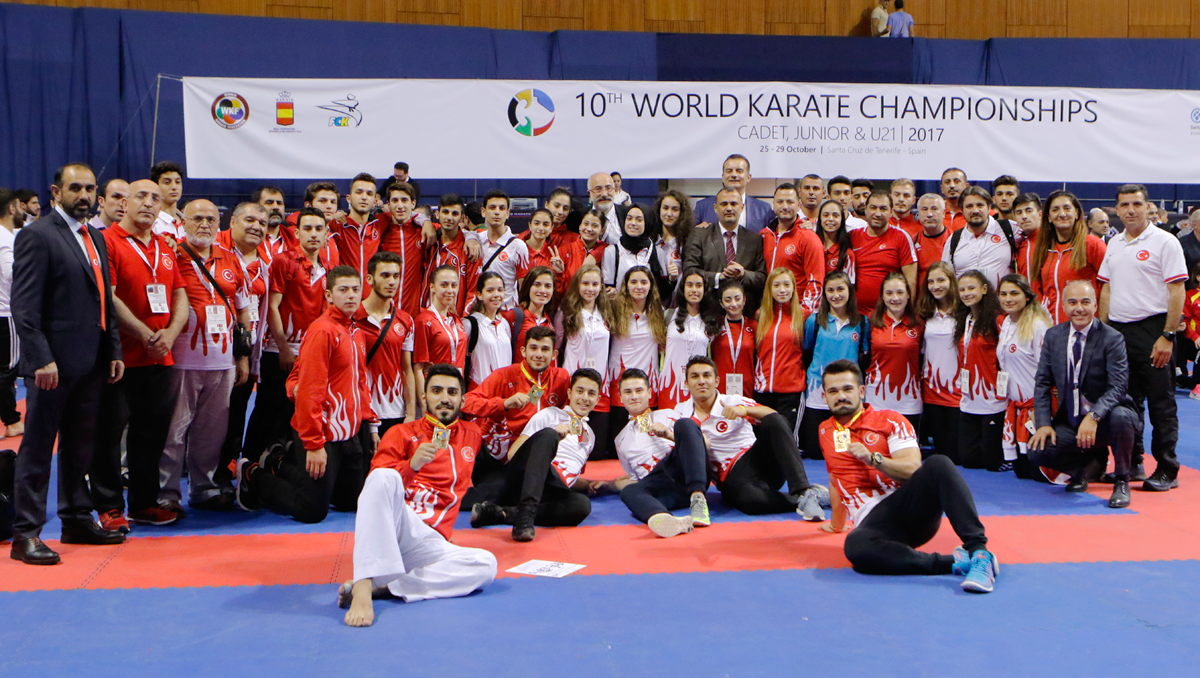 11 MEDALS FOR TURKEY IN KARATE TENERIFE 2017